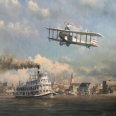 Steamship and Airplane